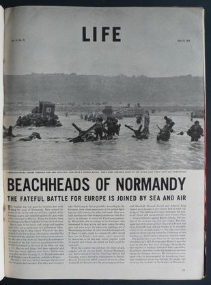 Foto: Robert Capa na Life Magazine (Junho de 1944)